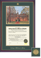 Framing Success Windsor BAMA (318Pres) Medallion Litho Diploma Frame Double Mat cherry with gold