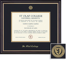 Framing Success Prestige (318Pres) Mdl Dip, Dbl Mat in satin black finish w gold accents