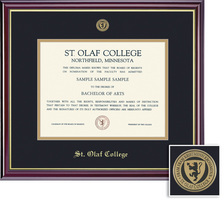 Framing Success Windsor (318Pres) Medallion Double Mat highgloss cherry finish gold inner bevel
