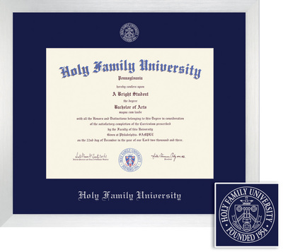 Silver Modern Picture Frames Intended Framing Success Broadway Diploma Frame Single Mat In Modern Brushed Silver Finish Holy Family University Bookstore