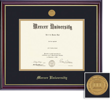 Framing Success Windsor BAMA Mdl Diploma, Double Mat cherry gold inner bevel