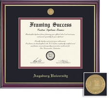 Framing Success Windsor Mdl Dip, Dbl Mat in a highgloss cherry finish gold inner bevel