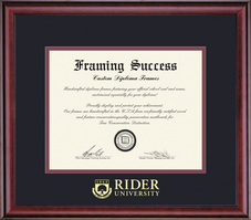 Framing Success Classic ASBA (418pres) Diploma Frame, Dbl Mat in a rich burnishedcherry finish