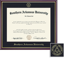 Framing Success Academic (2014Pres) Diploma high gloss cherry finish gold inner bevel slim contour