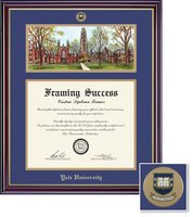 Framing Success Windsor (2018pres) Medallion DipLitho, Double Mat cherry finish gold inner bevel