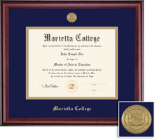 Framing Success Classic MA (2018Pres) Diploma Frame, Dbl Mat in burnishedcherry finish