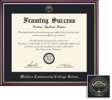 Framing Success Academic Diploma high gloss cherry finish gold inner bevel slim contour