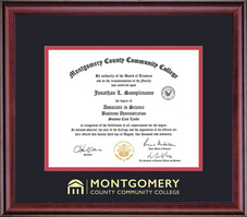 Framing Success Classic (2018Pres) Diploma, Double Mat in a rich burnished cherry finish