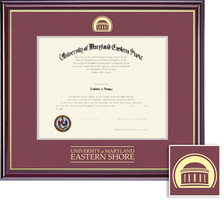 Framing Success Windsor BAMA (2018pres) Diploma, Double Mat highgloss cherry gold inner bevel