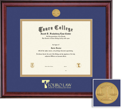 Framing Success Classic Law Mdl Diploma Frame, Dbl Mat in rich burnishedcherry finish