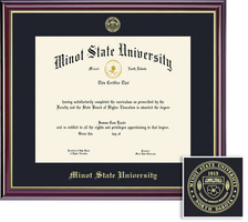 Framing Success Windsor BA Diploma in a highgloss cherry finish with gold inner bevel