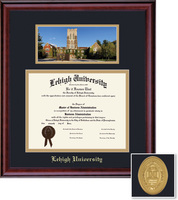 Framing Success Classic Diploma and Photo Oval Mdl, double mat in a rich burnishedcherry finish