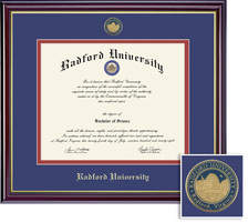 Framing Success Windsor Mdl Diploma, Dbl Mat in highgloss cherry finish with gold inner bevel