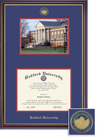 Framing Success Windsor Mdl Dip and Photo, Dbl Mat in highgloss cherry finish with gold bevel