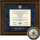 Church Hill Classics Presidential Diploma Frame.  Penn State Law (Online Only)