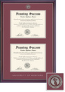 Framing Success Jefferson BAMAPhD(2018Pres) Mdl Dbl Dip, in gloss cherry finish with silver bevel