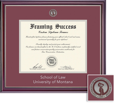 Framing Success Jefferson Law (2018Pres) Mdl Dip, Dbl mat in a gloss cherry finish, silver bevel