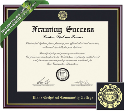 Southern Wake Campus Bookstore - Framing Success Academic Diploma Frame