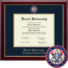 Church Hill Classics Masterpiece Diploma Frame. College of Engineering (Online Only)
