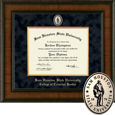 Church Hill Classics Presidential Diploma Frame.  College of Criminal Justice (Online Only)
