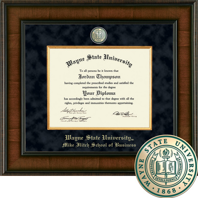 Church Hill Classics Presidential Diploma Frame. Mike llitch School of Business (Online Only)