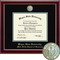 Church Hill Classics Masterpiece Diploma Frame. Mike llitch School of Business (Online Only)