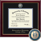 Church Hill Classics Masterpiece Diploma Frame. College of Law (Online Only)