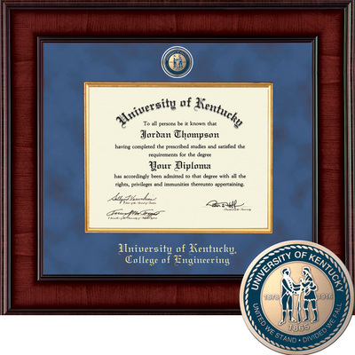 Church Hill Classics Presidential Diploma Frame. College of Engineering (Online Only)