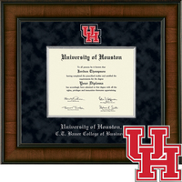 Church Hill Classics Presidential Diploma Frame.  C.T. Bauer College of Business (Online Only)