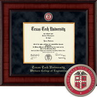 Church Hill Classics Presidential Diploma Frame. Whitacre College of Engineering (Online Only)