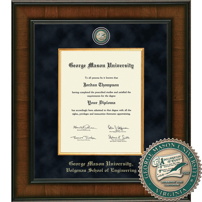 Church Hill Classics Presidential Diploma Frame. Volgenau School of Engineering (Online Only)