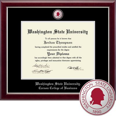 Church Hill Classics Masterpiece Diploma Frame. Carson College of Business (Online Only)