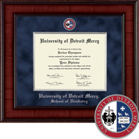 Church Hill Classics Presidential Diploma Frame.  School of Dentistry (Online Only)