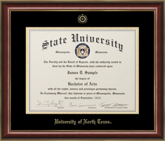 JOSTENS LANCASTER DOCTOR DIPLOMA FRAME IN GLOSS BLACK WITH GOLD TRIM