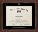 Jostens Classic Doctoral diploma frame in Mahogany with Gold Trim