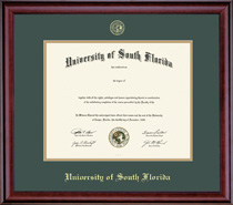 Framing Success Classic Double Matted Diploma Frame in a Burnished Cherry Finish. Bachelors