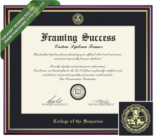 Framing Success Academic Diploma Frame. Bachelors, Masters