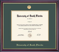 Framing Success Windsor Diploma Frame in a Gloss Cherry Finish and Gold Trim. Masters