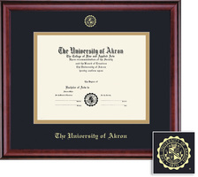Framing Success Classic Double Matted Diploma Frame in a Burnished Cherry Finish. PHD