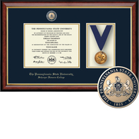 Church Hill Classics Schreyer Honors College Medallion Frame. Bachelors Masters PhD. (Online Only)