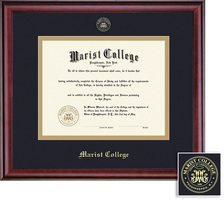 Framing Success Classic Double Matted Masters Degree Diploma Frame in a Burnished Cherry Finish