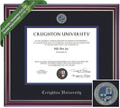 Framing Success Jefferson Diploma Frame. Law, MD, Doctorate