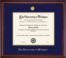 Framing Success Classic Diploma Frame with Embossed Seal, Double Matted. Bachelors and Masters