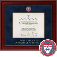 Church Hill Classics Presidential Diploma Frame. Wharton Business