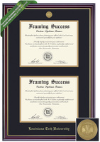 Framing Success Windsor Double Diploma Frame. Bachelors, Masters, PhD