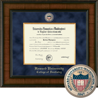 Church Hill Classics Presidential Diploma Frame.  Denstistry (Online Only)
