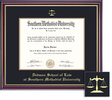 Framing Success Law Windsor Dip, Dbl Mat in high gloss cherry finish with gold inner bevel