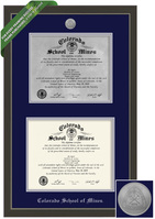 Framing Success Metro Double Diploma Frame. Paper, Metal