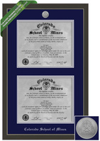 Framing Success Metro Double Diploma Frame. Metal