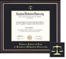 Framing Success Dedman Law Prestige Dip, Dbl Mat in satin black finish with gold accents